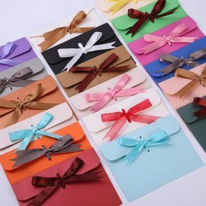 24*18*0.7cm bow Envelope Kraft paper pocket bag Kerchief Wrap Handkerchief Silk scarf packing boxes