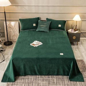 Sheets & Sets Warm Soft Flannel Bed Sheet Linens Winter Thicken Linen For Home Solid Color Bedspreads Mattress Cover Plaid