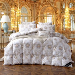 Twin Queen King size 100%Cotton goose duck down Comforter bed set Quilt Duvet cover filler Thick Warm Soft Throw Blanket