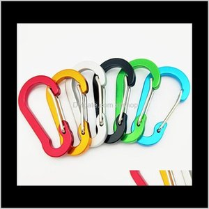 Carabiners Climbing Sports Outdoors Drop Delivery 2021 Flat Shape Ring Keyrings Key Chains Sport Carabiner Camp Snap Clip Hook Keychain Alumi