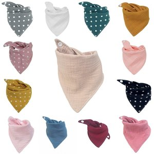 Baby Bibs Burp Cloths 14colors Infant Saliva Cloth Bandana Cotton INS Triangle Bibs Baby Saliva Bibs Pinafore Newborn Burp Cloths 402 V2