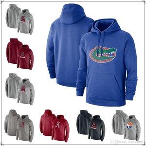 Alabama Crimson Marée Heathered Grey Club Pull-Sweat à capuche Floride Gators Royal Mens Sweatshirt Jersey Jersey Veste
