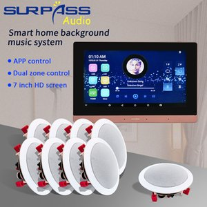 Smart Home Theatre Bluetooth WiFi Wall Amplifier Audio 2 Zone HiFi PA System Ceiling Speaker Background Music Stereo Google Play YouTube