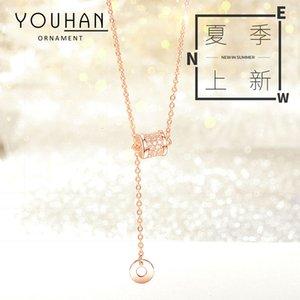 Pendant Small Waist Necklace Female, Tiktok, Style, Vibrato, Same Minority Clavicle Chain Geometry Temperament Pendant
