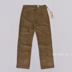 Men's Pants Corduroy BOB DONG Casual Retro Straight Leg Work Trousers Cords