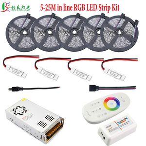 30m RGB-LED-Streifen mit Signal in der Linie für Deckendekoration + 2.4G Controller + 12V Stromversorgungsstreifen