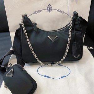 Designers Nylon Women Crossbody Bag Luxurys Blue Triangle Brand Wallet Fashion High Quality Purses Europe and America 2021 Ladis Handbags