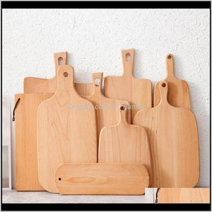 Other Knife Knives Accessories Kitchen Bar Home Garden Drop Delivery 2021 Hangable Beech Cutting Board Durable Wooden Chopping Fruit Pizza Su