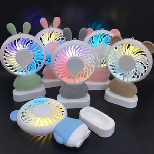 Electric Fans Wireless Ourdoor Summer Cooling Fan Sparkle Light Portable Handhold Mini Cute Neck Hanging Sport Air Conditioner
