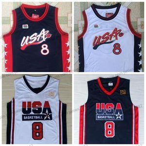 Scottie Pippen Basketball Jersey Men's All Stitched blue white jerseys Top Quality Size S-XL XXL Shirts
