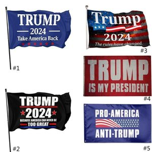 DHL SHIP Trump 2024 Take American Back 90*150cm Flags 2024 Presidential Election Banner Flags 3*5 Feet Digit Print 100D Polyester Fabric
