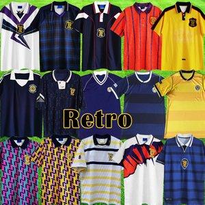 اسكتلندا الرجعية 1982 1986 World Cup Soccer Jersey Equipment Kits 1978 1988 1990 1991 1992 1992 1993 1996 1996 1998 2000 الكلاسيكية خمر اسكتلندا ريترو لكرة القدم قميص