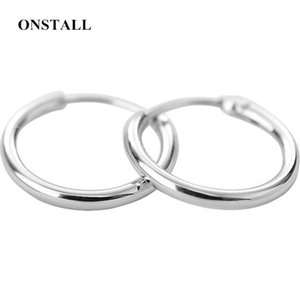 Women And Rings Earrings Female Hip Hop Round 925 Sterling Silver Stud Trendy Tide Mens
