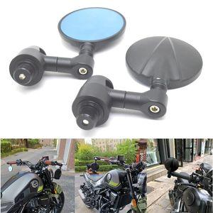 Espelhos de motocicleta Espelho Alumínio de alumínio Bar End Retrovisor Lateral Accessorie para Benelli TNT 125 135 TNT125 TNT135 2021-2021