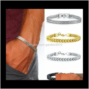There Colores Stainless Bracelet Mens Charm Titanium Steel Bangle Arts And Crafts Gifts Home Garden Ha064 Ioaps Uhbfs