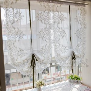 Tanmeluo Beautiful roman curtains for living room window curtain bedroom decoration kitchen door valances L0320