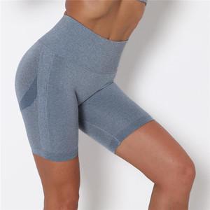 Yüksek Bel Kalça Spor Şort Bayan Pantolon Gevşek Sıkı Yoga Hızlı Kuru Eğitim Koşu Fitness