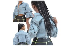 2021 sexy fashion women's short denim Printed Long Sleeve Blouses Women Chiffon Tops Blouse Summer European and American