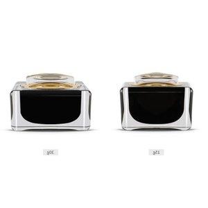15g 30g White Black Acrylic Cream Jar Empty Cosmetic Bottle Container Jar Square Cream Bottle 50pcs Botella