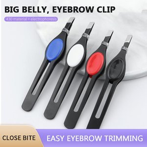 Eyebrow Tools & Stencils 1Pcs Tweezer Stainless Steel Hair Removal Tweezers Trimming Tool Oblique Flat Mouth Eye Brow Clips Makeup