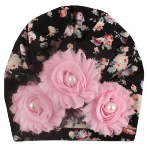 Baby Girls Indian Hats Infant Sun Floral Pearl Caps Kids Outdoor Slouchy Beanies Toddler Printed Skull Caps Enfant Crochet Hats 06 227 U2