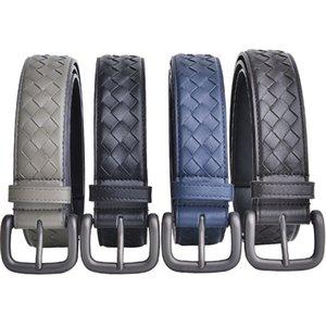 Designer 2019 New Fashion Mens Business Hand-knitted Belts Luxury Pin buckle Buckle Genuine Leather Belts For Men Waist Belt