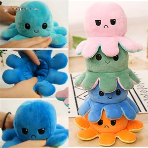 DHL Mood Octopus Doll Double Sided Fidget Toys Pulpo Mood Octopus Plush Octopus Toys For Kids pluszak Soft toy cosplay Toys BT27