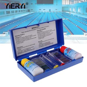 Swimming Pool Water Quality PH Test Kit Chlorine Liquid Hydroponics Aquarium Measuring For Cleaner Accessories Meters