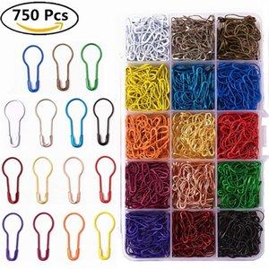 600 Piezas 20 Colores Surtido Bombilla Seguridad Pines Pasas Pasas En forma de Calabaza Calabaza Pin Punto de Punto Marcadores de costura Costura con caja de almacenamiento 198 W2