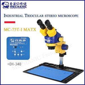 Power Tool Sets MECHANIC MC75T-iMatX Large Wide-angle Lifting 7-45X Trinocular Stereo Microscope HD Camera For Mobile Phone Repair