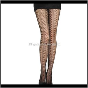 & Underwear Apparel Drop Delivery 2021 Womens Tights Sexy One Line Design Pantyhose Fishnet Stockings Women Ladies Female Hosiery Socks Dkx2C