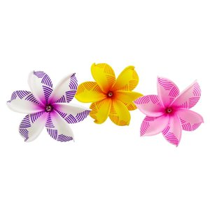 Decorative Flowers & Wreaths 10pcs set Christmas Hawaii Summer Party DIY Decorations Artificial Hula Girls Favor Hair Decoration Flower