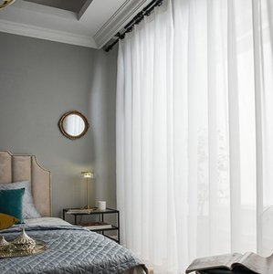 Top Quality Luxurious Chiffon Solid White Sheer Curtains for Living Room Bedroom Decoration Window Voiles Tulle Curtain
