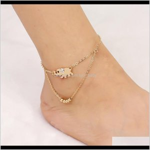 Anklets For Women Sexy Beach Rhinestone Elephant Anklet From India Barefoot Chain Ankle Bracelet Foot Jewelry Njzfl Nkege
