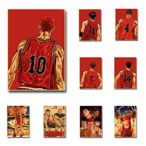 Buy 3 Get 4 Basketball Cartoon Slam Dunk Posters Kraft Paper Anime Poster Home Decor Wall Sticker Cafe Bar Decorative Painting C0929