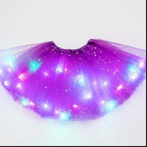 LED Womens Skirt Glowing Light Kids Girls Tutu skirts Children and women Cloth Wedding Party Dancing miniskirt Costume cosplay clothing