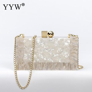 YYW Marbling white Acrylic Purse Box Clutch Luxury fashion bags Handbags Women Bgas Designer Messenger Beach Travel Summer totesbag Hand Bag