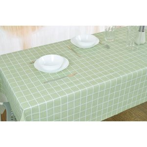 Table Cloth Plaid PVC Tablecloth Background Plastic Cover Waterproof Oilproof Home Decor Manteles Toalha De Mesa