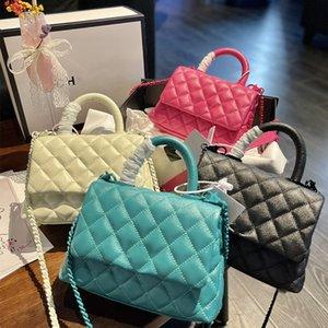 Handbag Women Clutch Bags Totes black calfskin caviar classic Coco Handle bag chains Genuine Leather crossbody shoulder handbags with original box size 13 19 cm