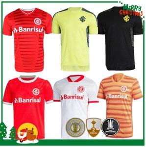 21 22 Brésils Internacional Home Soccer Jersey 2021 2022 Guerrero Damiao Silva D Alessandro Adult Homme Adult Homme + Enfants T-shirt de football