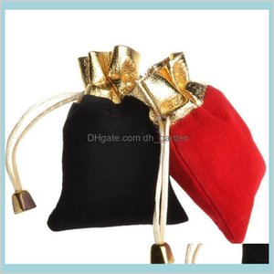 Pouches Packaging Display Drop Delivery 2021 Fast Fine Jewelry Exquisite Flannel Gift Bags Necklace Bracelets Rings 42Aoj
