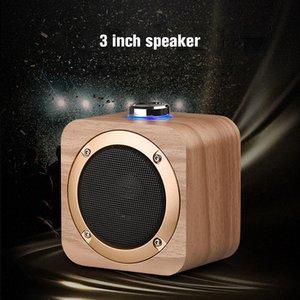 Q1B Altavoz portátil de madera Bluetooth 4.2 Bass inalámbrico Subwoofer Subwofer Reproductor de música incorporado 1200mAh Batería