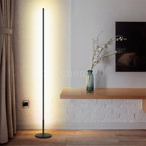 Nordic Minimalist LED Floor Lamps Living Room Black White Aluminum Luminaria Standing Lamps Lamparas Decorate