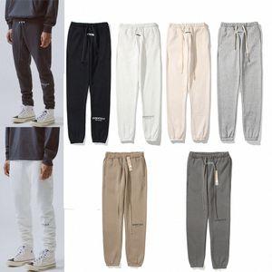 Autumn designer mens essentials jogger pants trousers waist elastic leisure fear of god outdoor sports running FOG casual side jogging men sweatpants T4fG#