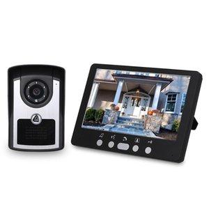 Inch Monitor HD Camera Video Door Phone Doorbell Intercom System IR Night Vision Wired Phones