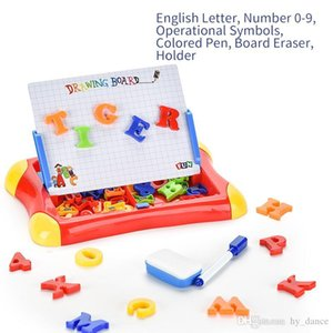 Tablero de escritura tablero de dibujo magnético tableta pintura juguetes niño colorido conjunto niños alfabeto número educativo matemáticas regalo