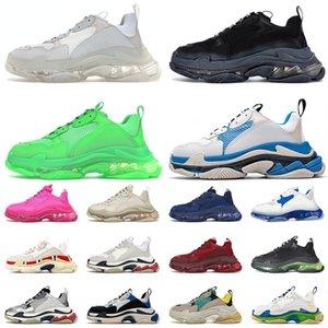 balenciaga triple s balenciaca الأكثر مبيعًا 2021 Triple S Fashion Platform Casual Shoes أحذية رياضية للرجال والنساء 17FW أزواج مصمم عتيق Luxurys ترفيه كريستال أسفل 36-45