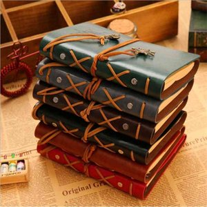 Spiral Pirate Notebook Vintage Leather Journal Garden Travel Diary Books Kraft Paper Journal Notebook Retro Classical Books Decoration C574