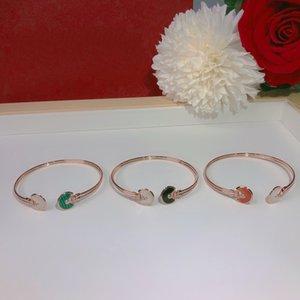Dame designer femmes personnalité amulette sterling argent bracelets bracelets bijoux de qualité supérieure de qualité supérieure trois couleurs