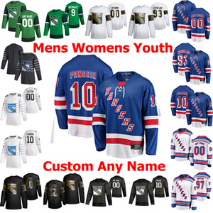 New York Rangers Hockey Jerseys 10 Artemi Panarin Jersey 93 Mika Zibanejad 13 Alexis Lafreniere 24 Kaapo Kakko 31 Igor Shesterkin Personalizar cosido